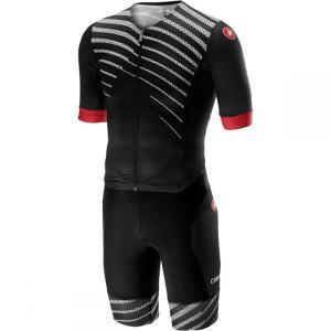 カステリ Castelli メンズ トップス トライアスロン Free Sanremo Short - Sleeve Suits Black/Black|fermart3-store