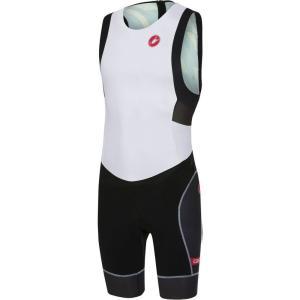 カステリ Castelli メンズ トップス トライアスロン Free Tri ITU Suits Withe/Black|fermart3-store