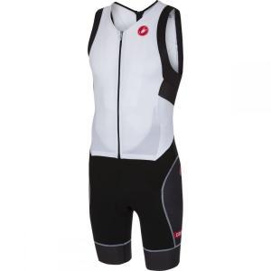 カステリ Castelli メンズ トップス トライアスロン Short Distance Race Suits Withe/Black|fermart3-store