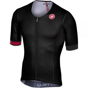 カステリ Castelli メンズ トップス トライアスロン Free Speed Race Tri Jerseys Black|fermart3-store