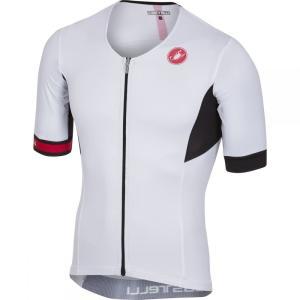 カステリ Castelli メンズ トップス トライアスロン Free Speed Race Tri Jerseys White|fermart3-store