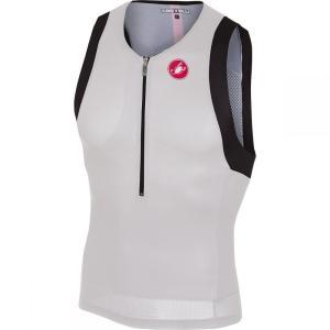 カステリ Castelli メンズ トップス トライアスロン Free Tri Sleeveless Tops White|fermart3-store