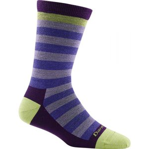 ダーンタフ Darn Tough レディース インナー ソックス Merino Wool Good Witch Crew Light Sock Luna Lavender|fermart3-store