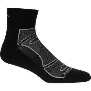 ダーンタフ Darn Tough メンズ インナー ソックス True Seamless 1/4 Light Cushion Sock Black/Grey|fermart3-store