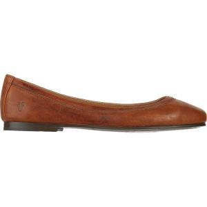 フライ レディース スリッポン・フラット シューズ・靴 Carson Ballet Shoe Cognac|fermart3-store