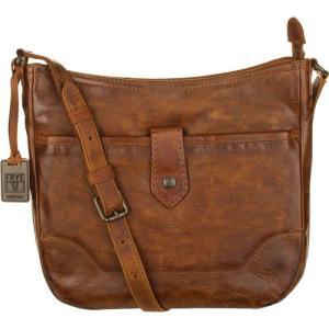 フライ Frye レディース ショルダーバッグ バッグ Melissa Button Crossbody Bag Cognac|fermart3-store