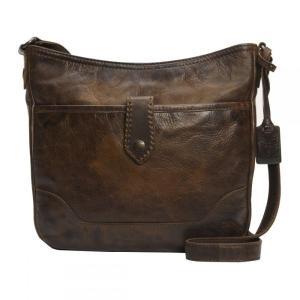 フライ Frye レディース ショルダーバッグ バッグ Melissa Button Crossbody Bag Dark Brown|fermart3-store