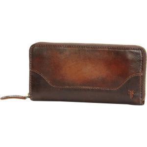 フライ Frye レディース 財布 Melissa Zip Wallet Dark Brown|fermart3-store