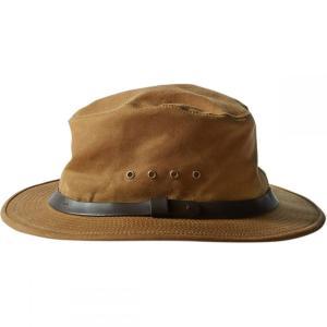 フィルソン レディース 帽子 ハット Tin Cloth Packer Hat Dark Tan|fermart3-store