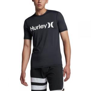 ハーレー メンズ ラッシュガード 水着・ビーチウェア One & Only Short - Sleeve Surf Shirts Black/White|fermart3-store
