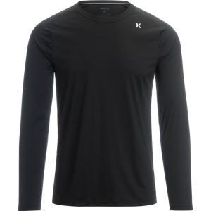 ハーレー Hurley メンズ ラッシュガード 水着・ビーチウェア Quick Dry Long - Sleeve T - Shirts Black|fermart3-store