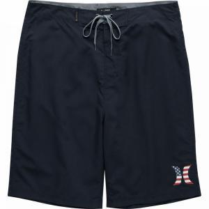 ハーレー Hurley メンズ 海パン 水着・ビーチウェア Americana Icon Solid 21in Board Shorts Obsidian|fermart3-store