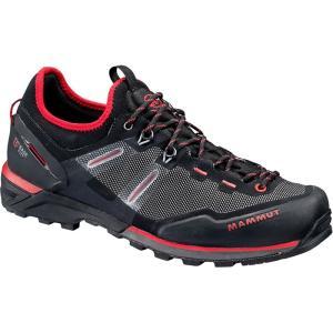 マムート メンズ シューズ・靴 ハイキング・登山 Alnasca Knit Low Approach Shoes Black/Magma|fermart3-store