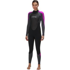 オニール O'Neill レディース ウェットスーツ 水着・ビーチウェア Epic 4/3 Full Suit Black/Graphite/Berry|fermart3-store