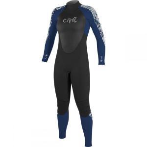 オニール O'Neill レディース ウェットスーツ 水着・ビーチウェア Epic 4/3 Full Suit Black/Navy/Indigo Patchwork|fermart3-store
