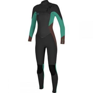 オニール レディース ウェットスーツ 水着・ビーチウェア O'riginal Fuze 3/2 Taped Wetsuit Black/Pepper/Capri Breeze|fermart3-store
