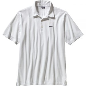 パタゴニア Patagonia メンズ トップス ポロシャツ Trout Fitz Roy Polo Shirt White|fermart3-store