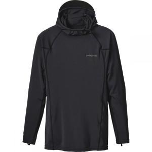 パタゴニア メンズ 水着 ラッシュガード R0 Hooded Sun Shirt Black/Forge Grey fermart3-store