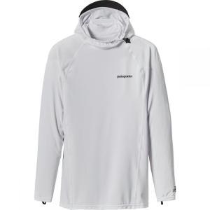 パタゴニア メンズ 水着 ラッシュガード R0 Hooded Sun Shirt White/Feather Grey fermart3-store