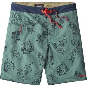 パタゴニア メンズ 海パン 水着・ビーチウェア Wavefarer 19in Board Shorts Balkan Bust/Shadow Blue fermart3-store
