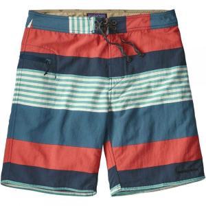 パタゴニア メンズ 海パン 水着・ビーチウェア Wavefarer 19in Board Shorts Fitz Stripe/Tomato fermart3-store