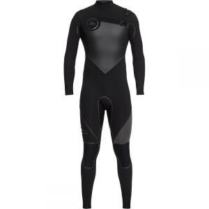 クイックシルバー メンズ ウェットスーツ 水着・ビーチウェア 5/4/3 Syncro Plus Chest - Zip LFS Wetsuits Black/Black/Jet Black|fermart3-store