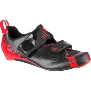 スコット メンズ トライアスロン シューズ・靴 Tri Pro Shoes Black/Neon Red Gloss|fermart3-store