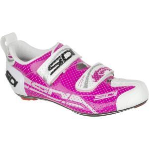 シディ Sidi レディース トライアスロン シューズ・靴 T-4 Air Carbon Composite Shoes Fuscsia/White|fermart3-store