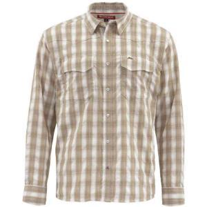 シムズ Simms メンズ シャツ トップス Big Sky Shirt Shiitake Plaid|fermart3-store