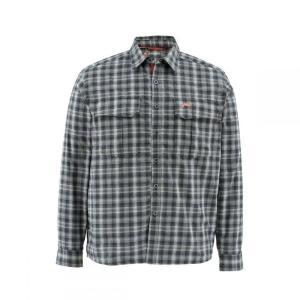シムズ Simms メンズ シャツ トップス Cold Weather Shirt Black Plaid|fermart3-store