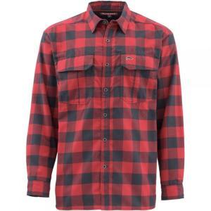 シムズ Simms メンズ シャツ トップス Cold Weather Shirt Red Buffalo Plaid|fermart3-store