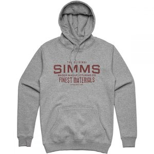 シムズ Simms メンズ パーカー トップス Wader MFG Hoodie Gunmetal Heather|fermart3-store