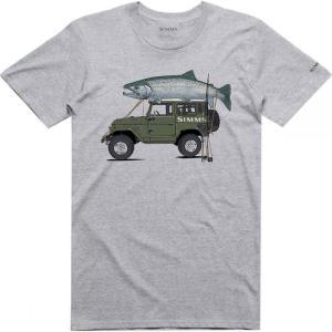 シムズ Simms メンズ Tシャツ トップス Trout Cruiser T - Shirt Grey Heather|fermart3-store