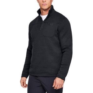 アンダーアーマー Under Armour メンズ スウェット・トレーナー ヘンリーシャツ トップス Specialist Henley 2.0 Sweatshirt Black/Black/Charcoal|fermart3-store