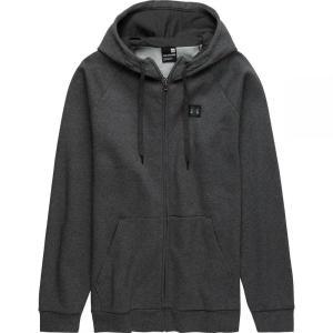 アンダーアーマー Under Armour メンズ パーカー トップス Rival Fleece Full - Zip Hoodies Charcoal Light Heather/Black fermart3-store