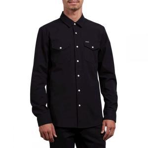 ボルコム Volcom メンズ シャツ トップス Hayes Shirts Black fermart3-store
