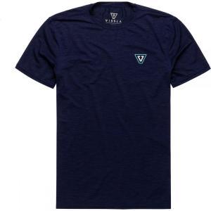 ヴィスラ Vissla メンズ ラッシュガード 水着・ビーチウェア All Time Short - Sleeve Rashguards Naval Heather|fermart3-store