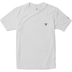 ヴィスラ Vissla メンズ ラッシュガード 水着・ビーチウェア All Time Short - Sleeve Rashguards White|fermart3-store