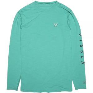 ヴィスラ Vissla メンズ ラッシュガード 水着・ビーチウェア All Time Long-Sleeve Rashguards Jade Heather|fermart3-store