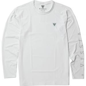 ヴィスラ Vissla メンズ ラッシュガード 水着・ビーチウェア All Time Long - Sleeve Rashguards White|fermart3-store