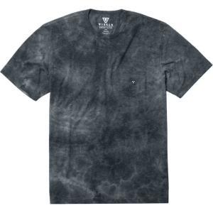 ヴィスラ メンズ Tシャツ トップス Calipher Embroidery Short - Sleeve Tie Dye T - Shirts Black Heather|fermart3-store