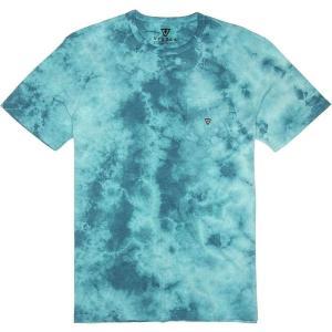 ヴィスラ Vissla メンズ Tシャツ トップス Calipher Embroidery Tie Dye T-Shirts Blue Wash Heather|fermart3-store