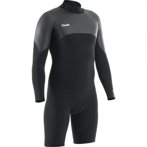ヴィスラ Vissla メンズ ウェットスーツ 水着・ビーチウェア 7 Seas Back Zip Long - Sleeve Spring Wetsuits Black|fermart3-store