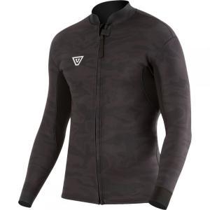 ヴィスラ Vissla メンズ ウェットスーツ ジャケット 水着・ビーチウェア front zip 2mm jacket Black Camo|fermart3-store