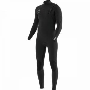ヴィスラ Vissla メンズ ウェットスーツ 水着・ビーチウェア 7 seas 3/2 full chest zip long - sleeve wetsuit Black With Jade|fermart3-store
