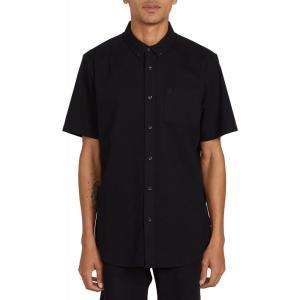ボルコム Volcom メンズ シャツ ワイシャツ トップス Everett Oxford Shirt New Black|fermart3-store