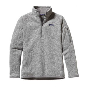 パタゴニア Patagonia レディース フリース トップス Better Sweater 1/4 Zip Fleece Birch White fermart3-store