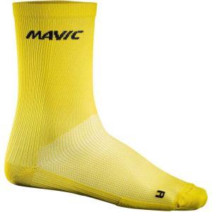 マヴィック Mavic メンズ ソックス インナー・下着 Cosmic High Cycling Socks Yellow Mavic|fermart3-store