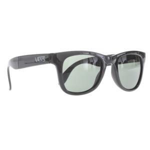 ヴァンズ メンズ メガネ・サングラス Foldable Spicoli Sunglasses Black Gloss Lens|fermart3-store