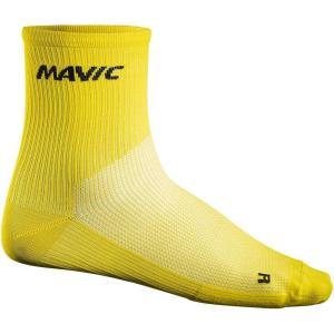 マヴィック Mavic メンズ ソックス インナー・下着 Cosmic Mid Cycling Socks Yellow Mavic|fermart3-store
